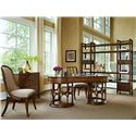 Stanley Furniture Archipelago Port Royal Side Chair - 186-11-60 - Shown with Bequia Host Chair, Ripple Cay Lateral File, Monserrat Writing Desk, and Ripple Cay Media Bookcase