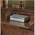 Stanley Furniture Archipelago Calypso Dresser with Walnut Inlay & Drop Down Drawer - 186-13-05 - Drop Down Center Drawer and Outlet for Electronics