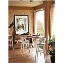Stanley Furniture Archipelago Antilles Pub Table with Metal Insert Top - 186-21-34 - Shown with Tambu Bar Stools and Ripple Cay Serving  Console