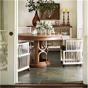 Stanley Furniture Archipelago 4-Piece Monserrat Round Pedestal Table Set