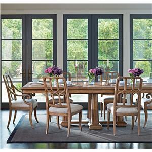 Stanley Furniture Archipelago 7-Piece Calypso Pedestal Table Set