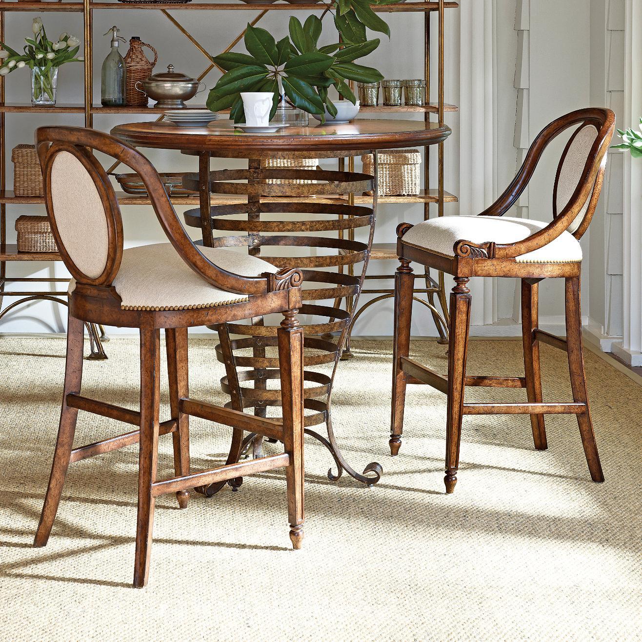 Stanley Furniture Arrondissement 3-Piece Brasserie Pub Table Set - Item Number: 222-11-34+2x73
