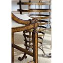 Stanley Furniture Arrondissement 3-Piece Brasserie Pub Table Set - Elegant Scroll Carving on Bar Stool Arms