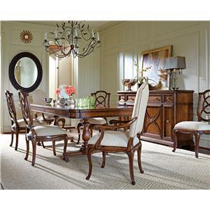Stanley Furniture Arrondissement 7-Piece Famille Pedestal Table Set