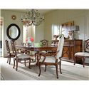 Stanley Furniture Arrondissement Famille Pedestal Table with Metal Stretcher & Leaf - 222-11-36