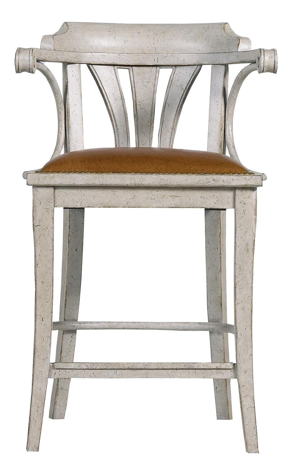 Stanley Furniture Arrondissement Soleil Counter Stool With Leather Seat    AHFA   Bar Stool Dealer Locator