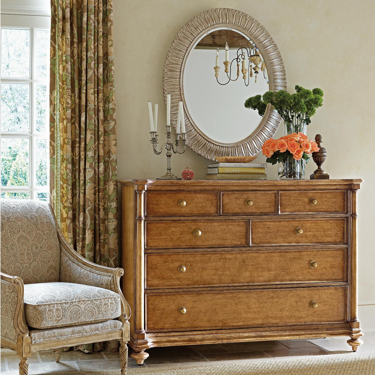 Stanley Furniture Arrondissement Belle Mode Dresser & Jardin Mirror - Item Number: 222-63-05+23-31