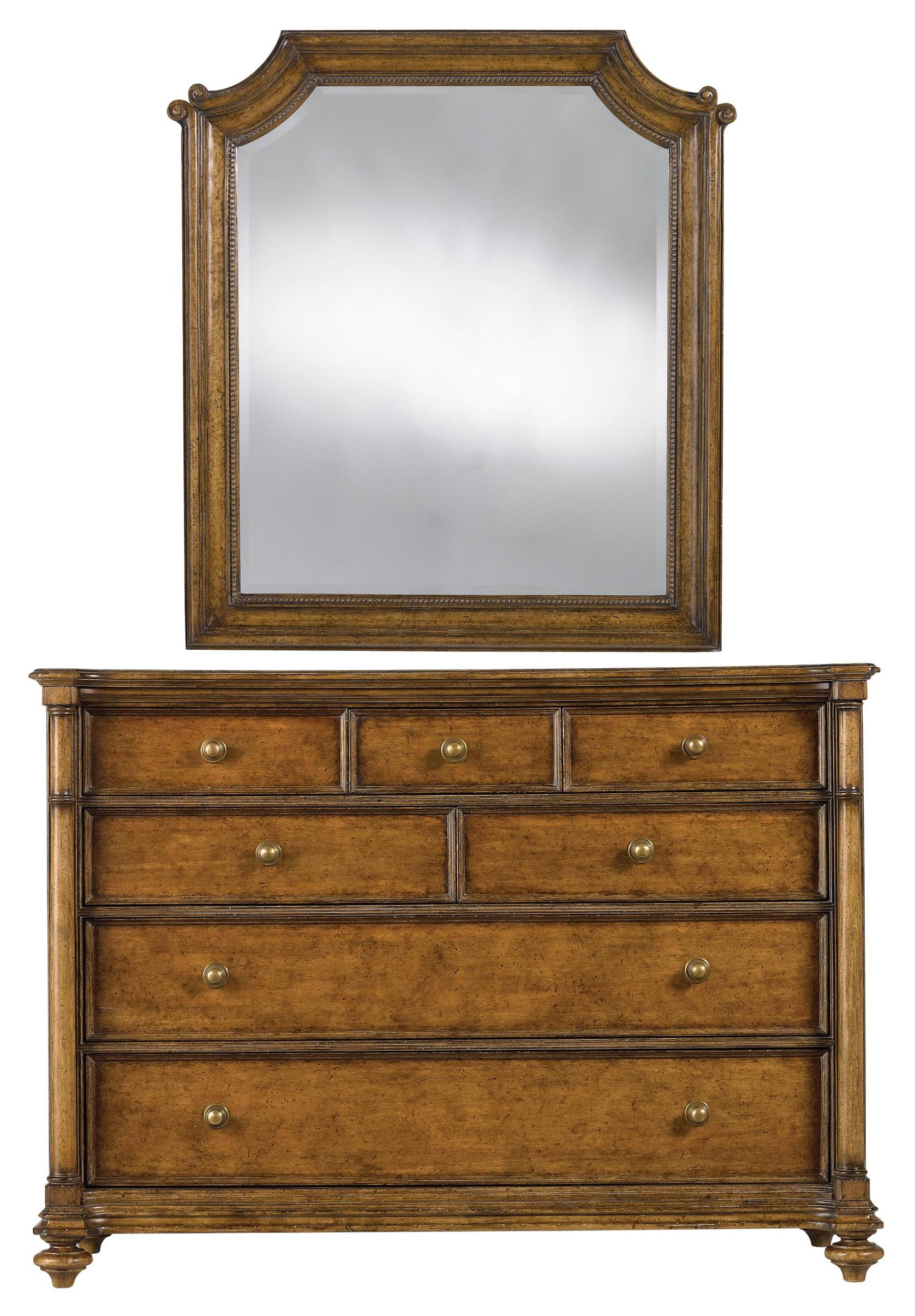 Stanley Furniture Arrondissement Belle Mode Dresser & Musée Mirror - Item Number: 222-63-05+30