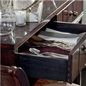 Stanley Furniture Avalon Heights 2 Drawer Empire Serving Console with Removable Wine Rack - Felt Lined Drawers