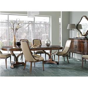 Stanley Furniture Avalon Heights 7 Piece Double Pedestal Table Set