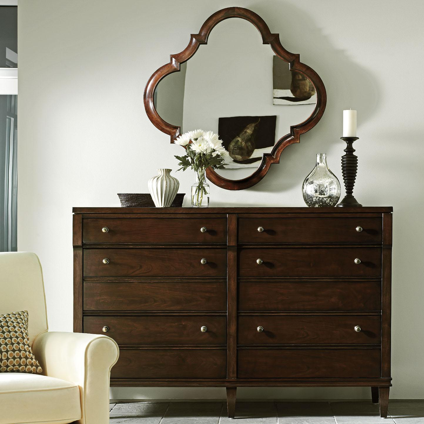 Stanley Furniture Avalon Heights Resonance Dresser and Decorative Mirror Set - Item Number: 193-13-05+31