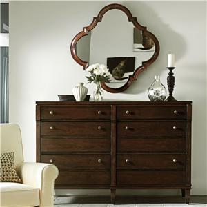 Stanley Furniture Avalon Heights Resonance Dresser and Decorative Mirror Set