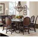 Stanley Furniture Casa D'Onore 8 Piece Round Table & Chair Set - Item Number: 443-11-30+7x60