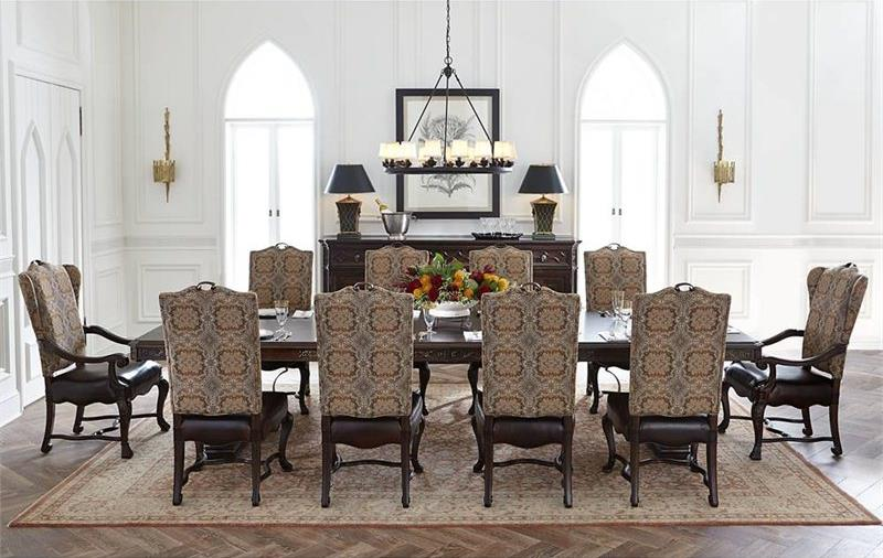 Stanley Furniture Casa D'Onore 11 Piece Formal Table & Chair Set - Item Number: 443-11-36+8x65+2x75