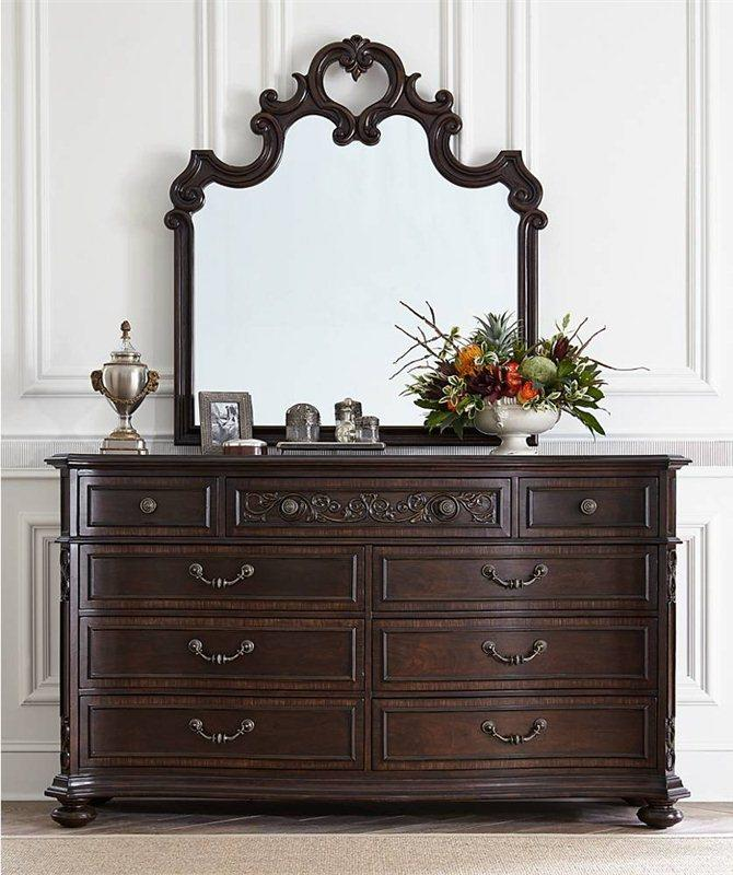 Stanley Furniture Casa D'Onore Formal Dresser & Mirror - Item Number: 443-13-06+30