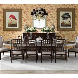 Stanley Furniture Charleston Regency 11 Piece Table and Chair Set