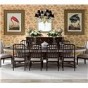 Stanley Furniture Charleston Regency 11 Piece Table and Chair Set - Item Number: 302-11-236+2x65+8x60