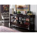 Stanley Furniture Charleston Regency Serpentine Entertainment Console with Garland Carved Posts