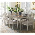 Stanley Furniture Charleston Regency 9 Piece Table and Chairs Set - Item Number: 302-21-30+2x70+6x60