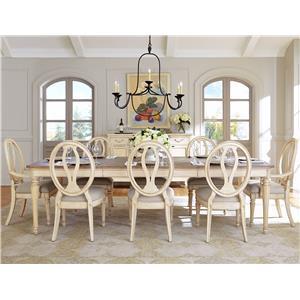 Stanley Furniture European Cottage 9 Piece Table & Chair Set