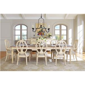 Stanley Furniture European Cottage Formal Dining Room Group