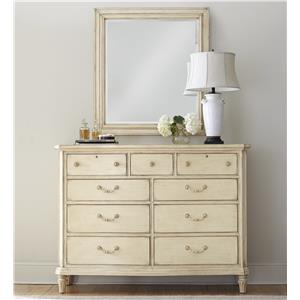 Stanley Furniture European Cottage Dresser with Mirror