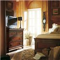 Stanley Furniture The Classic Portfolio - Louis Philippe Four Drawer Media Chest - Shown with Panel Bed