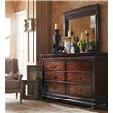Stanley Furniture The Classic Portfolio - Louis Philippe Dresser & Mirror - Item Number: 058-13-30+05