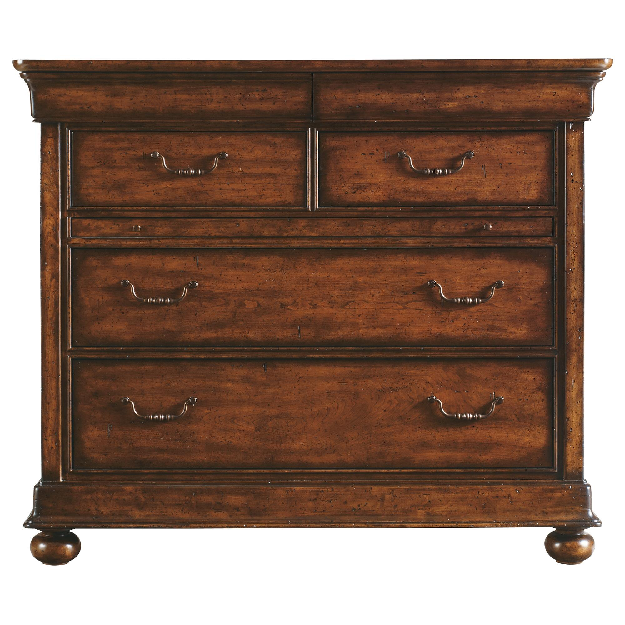 Stanley Furniture The Classic Portfolio - Louis Philippe Media Chest - Item Number: 058-63-11