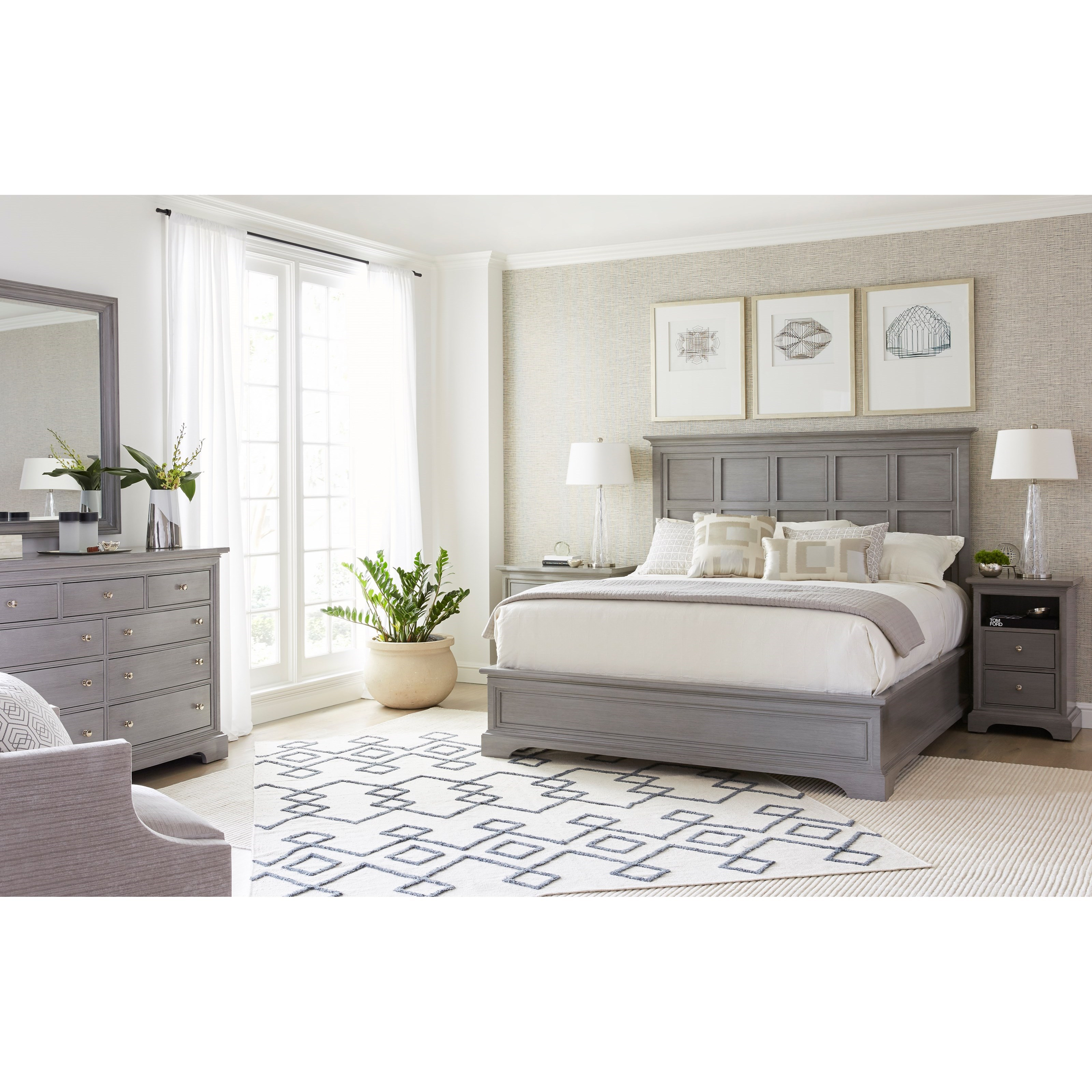 Stanley Furniture Transitional Queen Bedroom Group - Item Number: 042-33 Q Bedroom Group 1