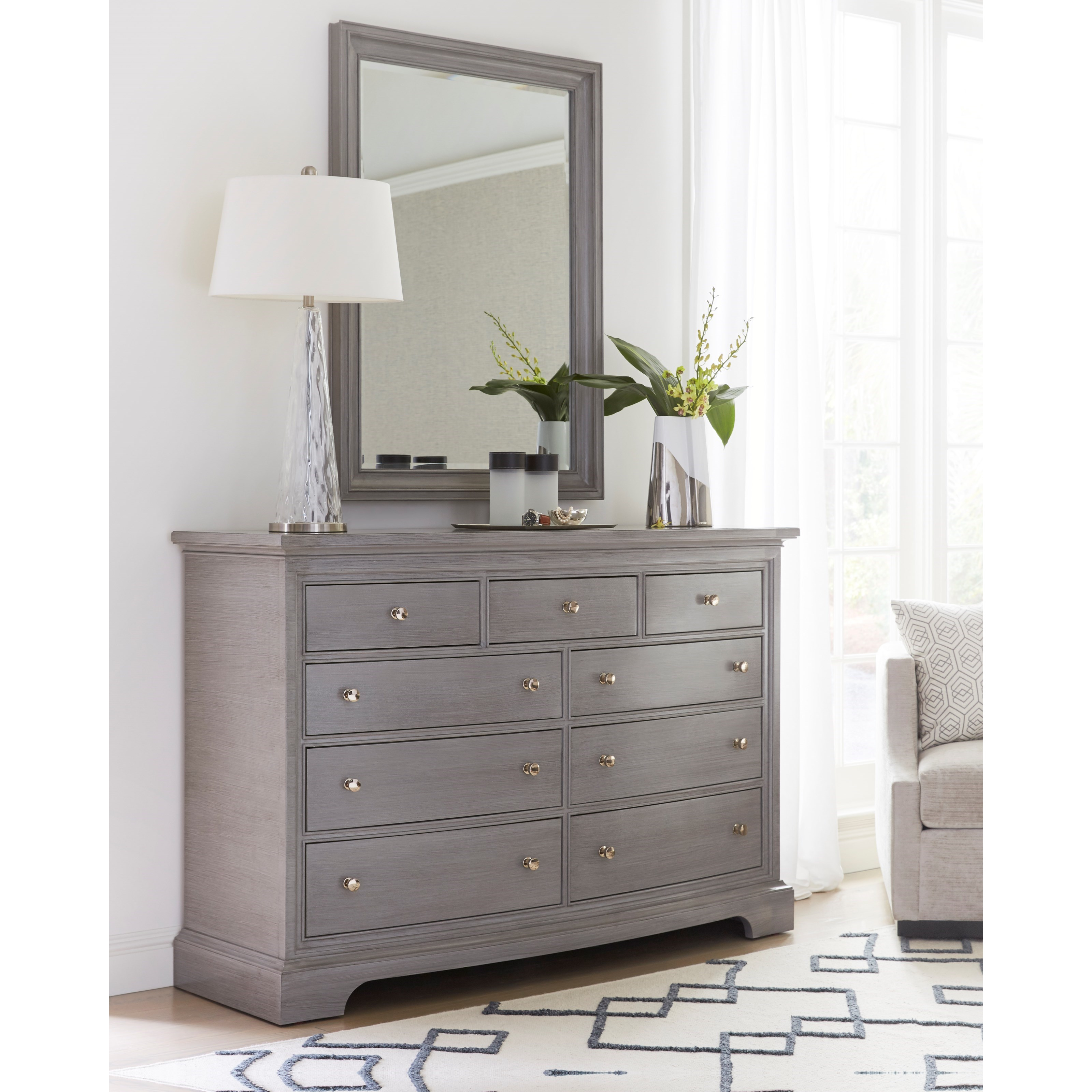 Stanley Furniture Transitional Dresser with Mirror - Item Number: 042-33-05+30