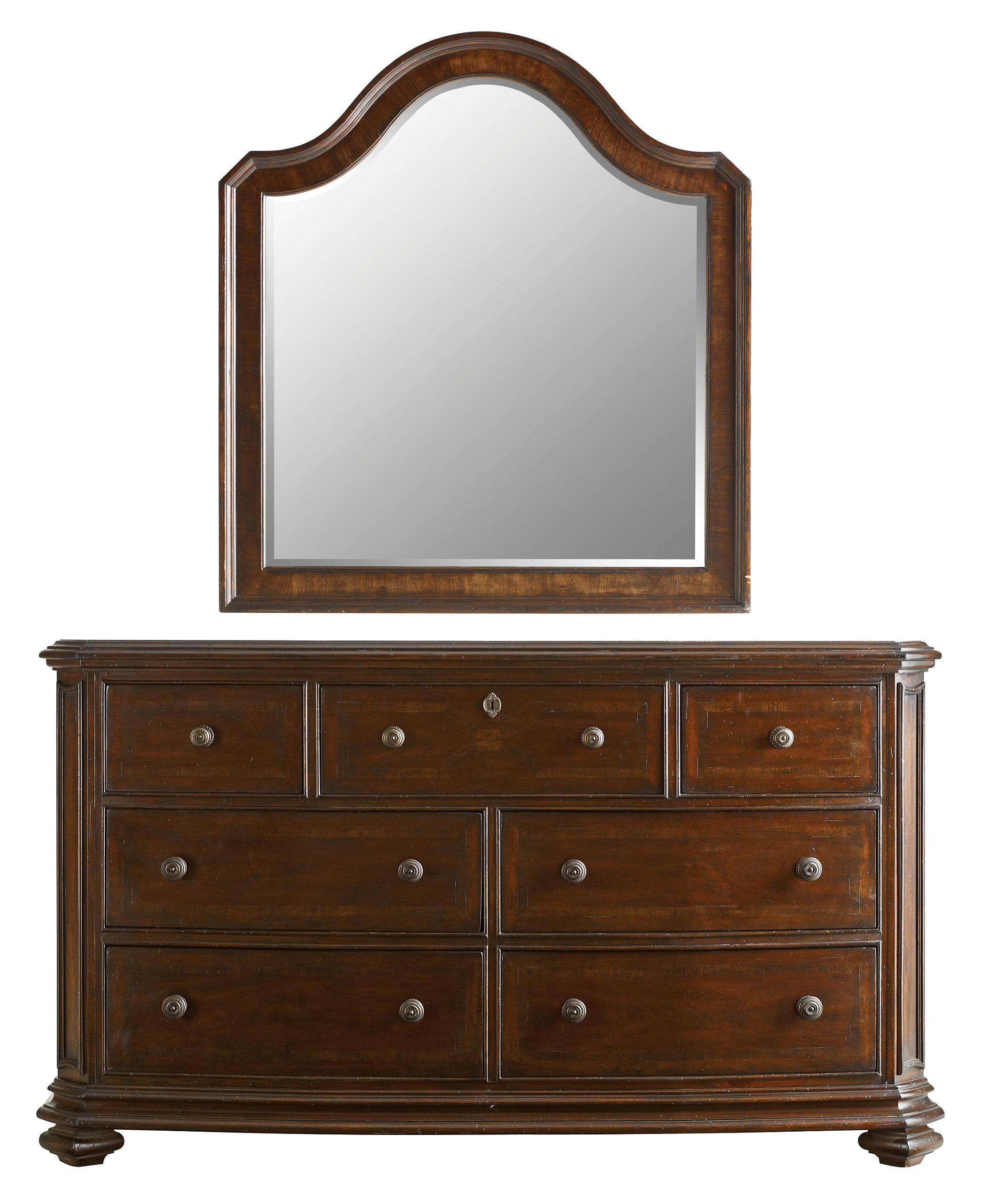 Stanley Furniture The Classic Portfolio Continental Triple Dresser & Landscape Mirror - Item Number: 128-13-05+30
