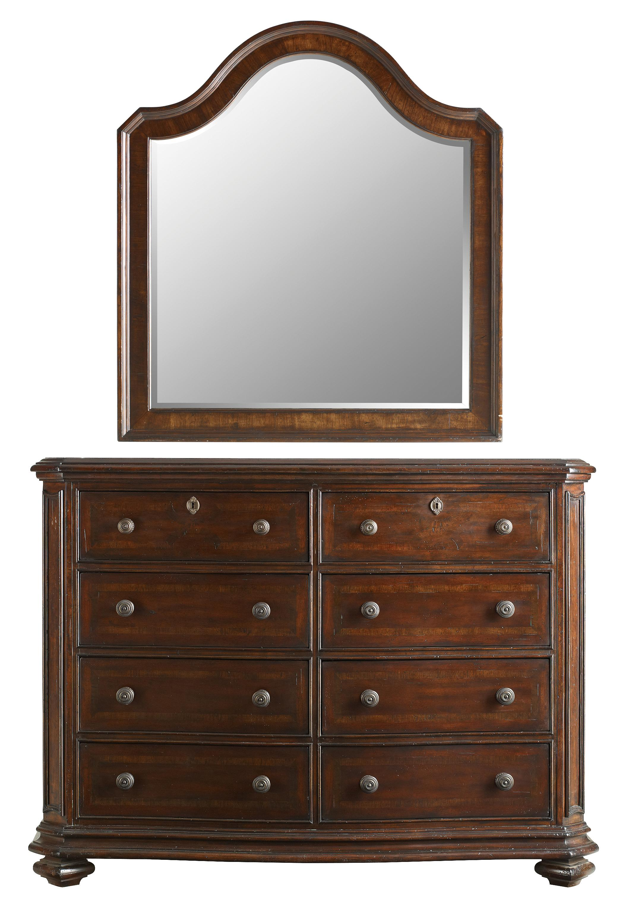 Stanley Furniture The Classic Portfolio Continental Double Dresser & Landscape Mirror - Item Number: 128-13-06+30