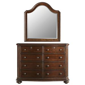 Stanley Furniture The Classic Portfolio Continental Double Dresser & Landscape Mirror