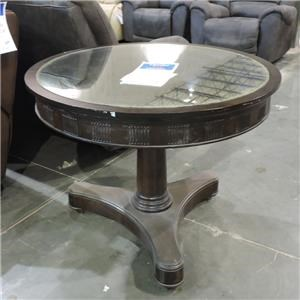 Stanley Furniture Clearance Mirror Topped Round Lamp Table