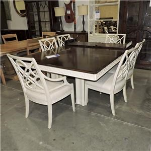 Stanley Furniture Clearance Double Pedestal Table and Chair Set