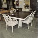 Stanley Furniture Clearance Double Pedestal Table and Chair Set - Item Number: 417213642