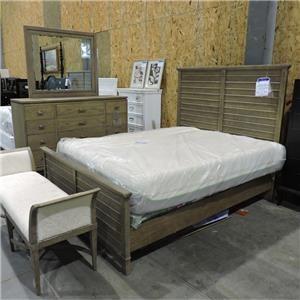 Queen Bed and Dresser + Mirror