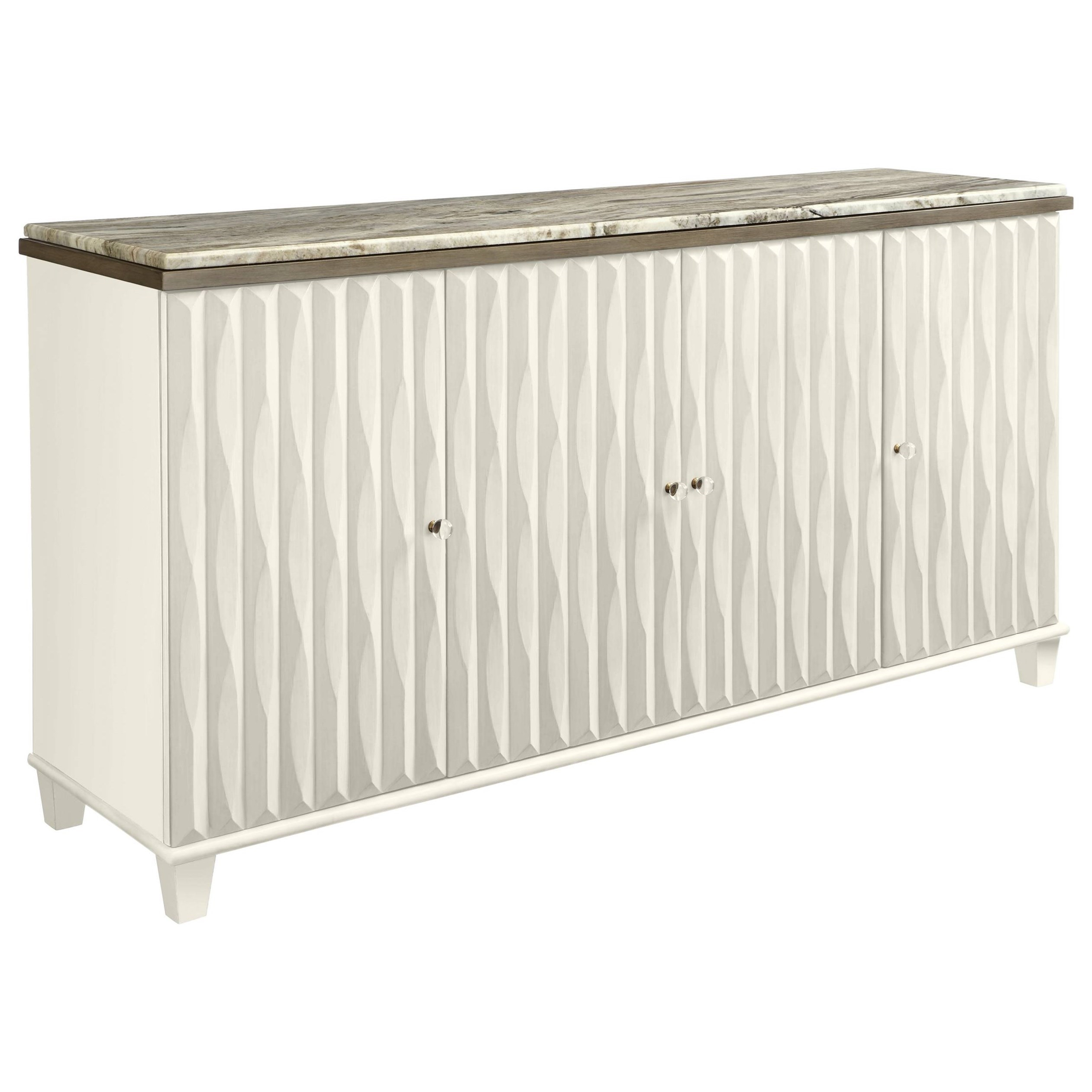 Stanley Furniture Coastal Living Oasis Tides Buffet with Lay-On Granite Top - Item Number: 527-21-05+71-105