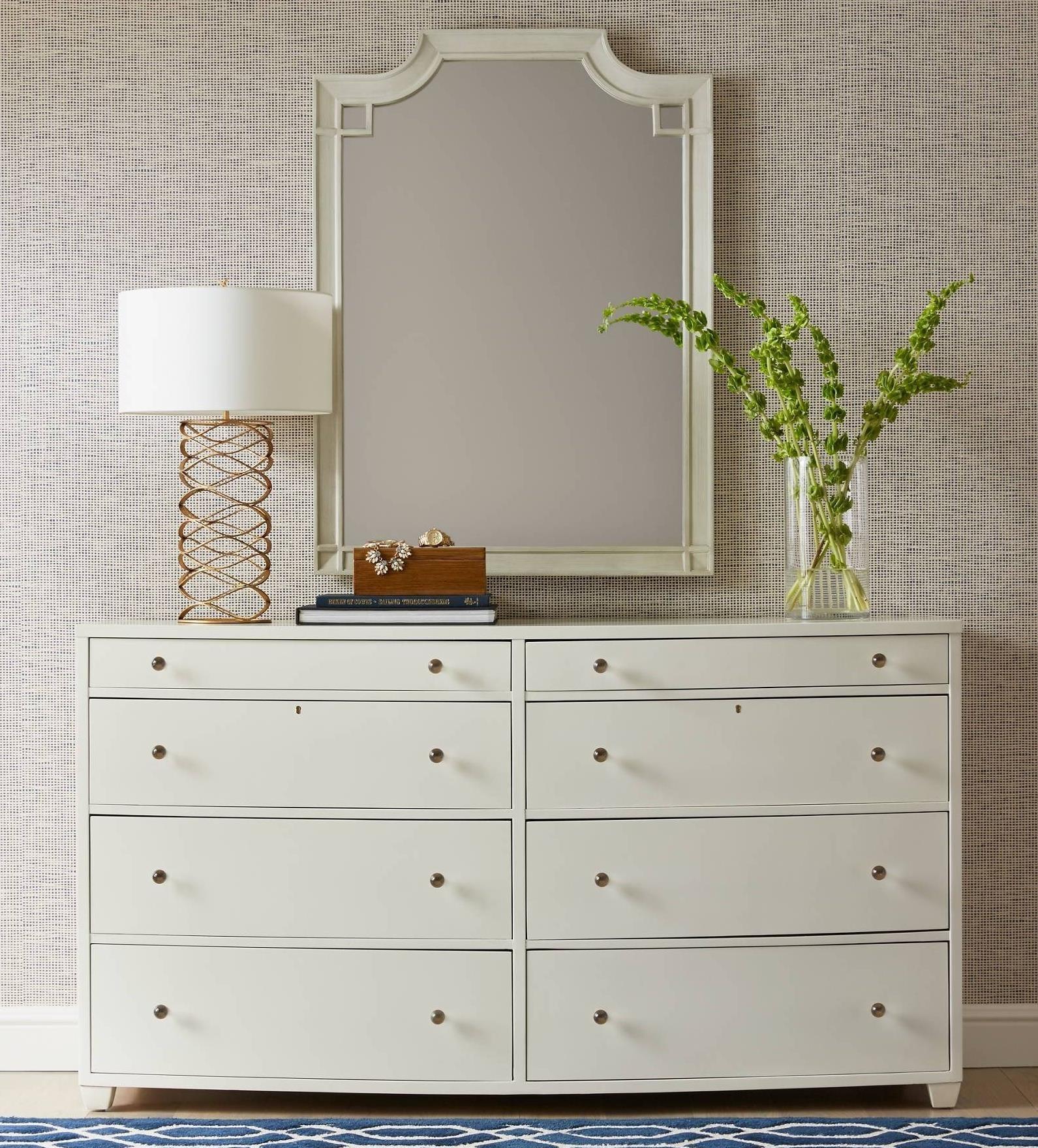 Stanley Furniture Coastal Living Oasis Ocean Park Dresser & Silver Lake Mirror - Item Number: 527-23-06+53-30