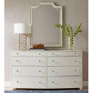 Stanley Furniture Coastal Living Oasis Ocean Park Dresser & Silver Lake Mirror
