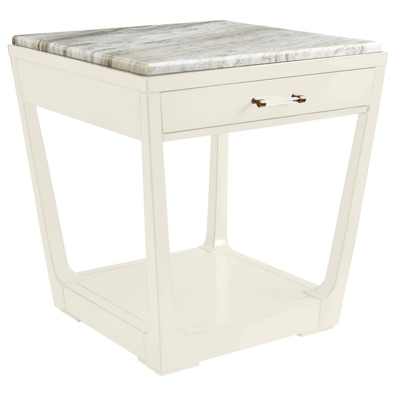 Stanley Furniture Coastal Living Oasis Meridian Square Lamp Table w/ Granite Top - Item Number: 527-25-14+75-114