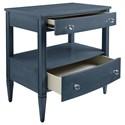 Stanley Furniture Coastal Living Oasis Mulholland Nightstand with 2 Drawer & 1 Shelf