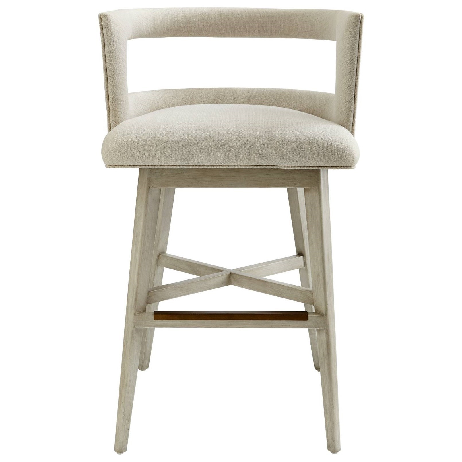 Stanley Furniture Coastal Living Oasis Crestwood Barstool with Swivel Seat Dunk & Bright