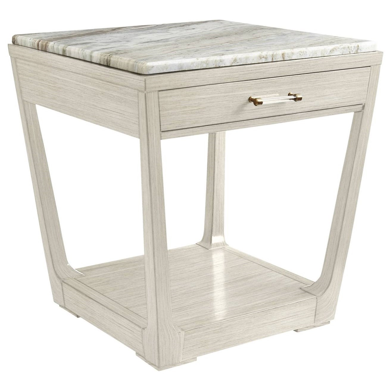 Stanley Furniture Coastal Living Oasis Meridian Square Lamp Table w/ Granite Top - Item Number: 527-55-14+75-114