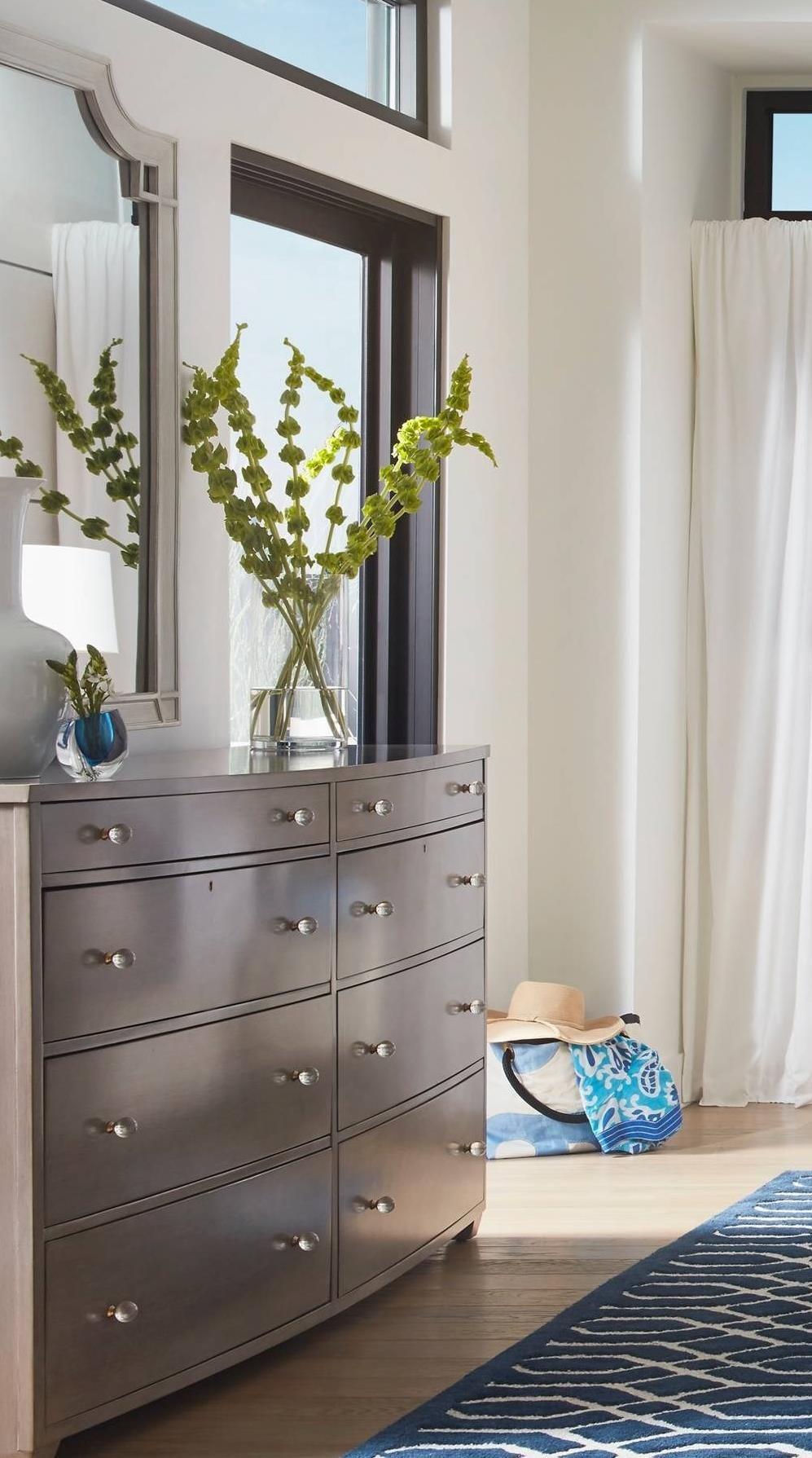 Stanley Furniture Coastal Living Oasis Ocean Park Dresser & Silver Lake Mirror - Item Number: 527-63-06+53-30