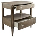 Stanley Furniture Coastal Living Oasis Mulholland Nightstand with 2 Drawer & 1 Shelf