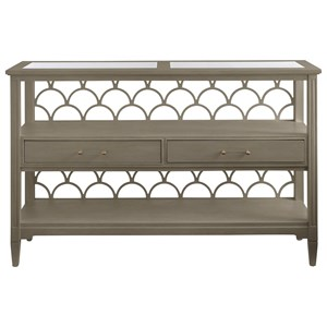 Stanley Furniture Coastal Living Oasis Sea Cloud Console Table
