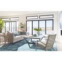 Stanley Furniture Coastal Living Oasis Meridian Square Lamp Table w/ Lay-On Granite Top