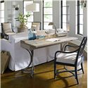 Stanley Furniture Coastal Living Resort Curl Tide Flip Top Table - Shown with Heritage Arm Chair